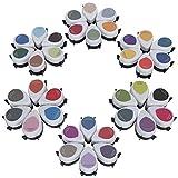 Juego de almohadillas de tinta de 36 piezas, forma de gota, DIY, portátil, colorido, pintura artística, sello de arcoíris, accesorios para papel fotográfico, papel revestido de cartón brillante autoad