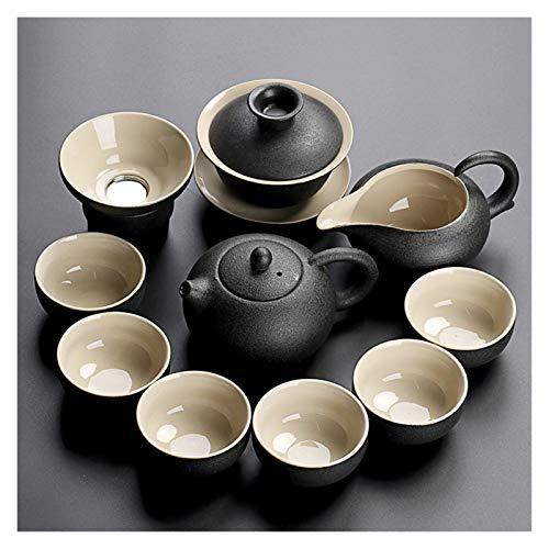 Tea Pot Black Crockery Ceramic teapot Kettles Tea Cups Porcelain Tea Set drinkware (Color : Style V)