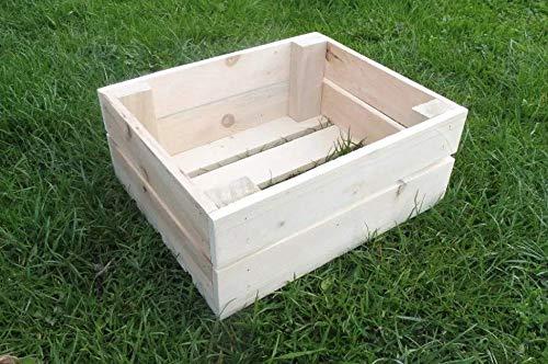 Odolplusz Caja de madera para vino o fruta, 30 x 20 x 12 cm, madera natural, 1 unidad