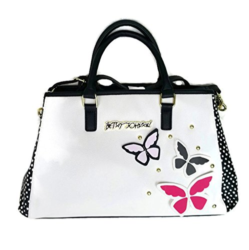 Betsey Johnson SATCHEL BOWLER CREAM/BLACK