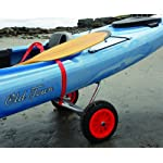 """Malone Clipper Deluxe Universal Kayak Cart 8 Universal frame supports canoe or kayak Includes airless """"Never-Go-Flat"""" removable 10"""" tires Oversized padded frame protects boat and includes stabilizing locking kickstand"""