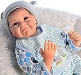Scnbom 22pulgadas 55cm Bebes Reborn niño Verdadero Silicona muñecas Reales Baby Dolls Girls Originales Recien Nacidos niñas Toddler Realista Ojos Abiertos Baratos