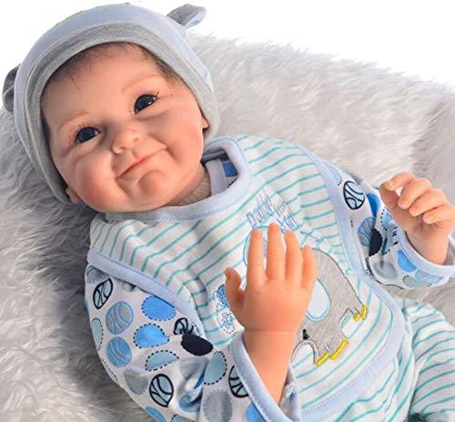 HOOMAI Puppe Reborn Babys Junge 55cm lebensecht silikon Girl doll günstig mädchen Magnetisches Spielzeug