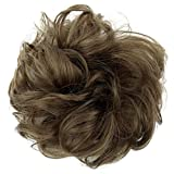 PRETTYSHOP Haarteil Haargummi Hochsteckfrisuren Brautfrisuren Voluminös Gelockt Unordentlich Dutt Hellbraun G8A