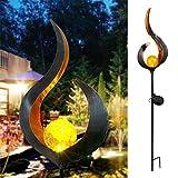 Luz de jardín LED de, luz de estaca alimentada por energía solar para paisaje, Luces solares Jardín Exterior Al Aire Libre Paisaje Decoración Iluminación para Césped, Patio, Calzada