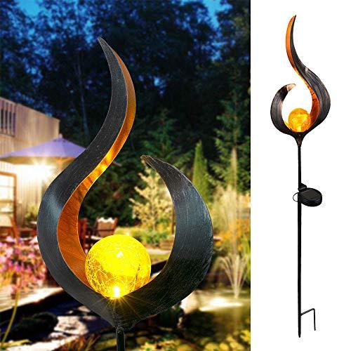 LED Solar Flame Lights Sun Moon LED Gartenlicht Flame Effect Lampe Wasserdichte Außenleuchten Landschaft Solar Dekorative Lampen