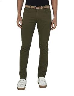Splash Front Pocket Belt Loop Skinny Pants for Men