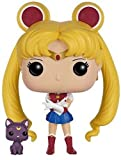 Funko POP Anime: Sailor Moon with Luna Action Figure,Multi,3.75 inches