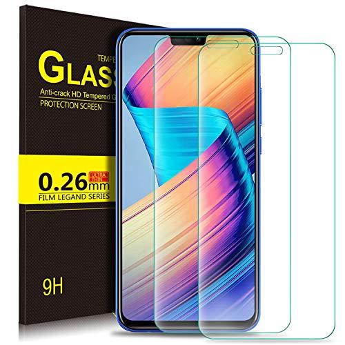 KuGi Honor 8X Schutzfolie, 9H Panzerglas Hartglas Glas Display Schutzfolie [Blasenfrei] [HD Ultra] [Anti-Kratzer] Displayschutzfolie Displayschutz Für Honor 8X Smartphone. Klar [2 Pack]
