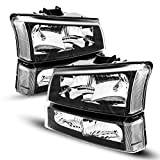 KAC Replacement Headlight Assembly for 2003-2007 Silverado/Avalanche 1500/2500/3500...