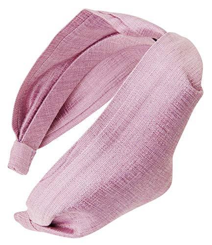 The L. Erickson USA Twisted Scarf Headband - Silk Matka Lavender/Lavender