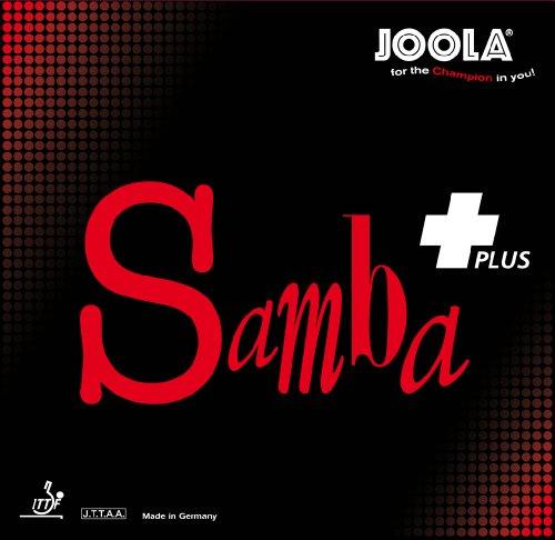 JOOLA Samba Plus - Goma para Tenis de Mesa (Rojo, máximo)