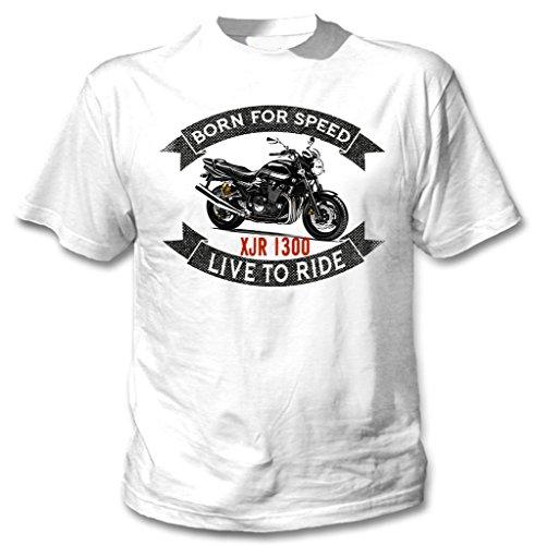 TEESANDENGINES Yamaha XJR 1300 Camiseta Blanca para Hombre de Algodon
