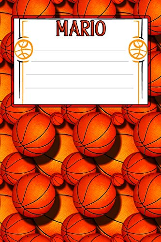 Basketball Life Mario: College Ruled | Composition Book