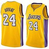 CHYSJ Kobe # 24 Lakers Basketball Jersey, versión de la Ciudad de la Ropa Deportiva para los fanáticos, cómoda Camiseta sin Mangas Neutro de sudorable Transpirable XL