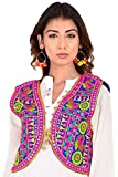 Craft Trade Embroidered Kutchi Jacket for Women Cotton Traditional Choli Koti Girls Indian Wear (Bust Size - 36' to 38')