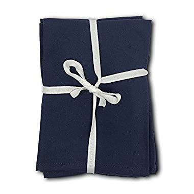 MoLi Products 100% Egyptian Cotton Cloth Dinner Napkins 12 Pack Lunch Linen – Decorative Reusable Fabric Table Linens Servilletas de Tela Restaurant Wedding Luncheon Napkin (Navy Blue)