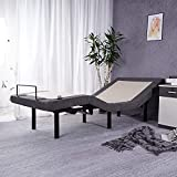 """Adjustable Bed Base Backlit Wireless Remote Bed Frame Max 848LB, 7""""or 11"""" Adjustable Bed Frame Height, Independent Head and Foot Bed Incline, USB Ports, Flat&Memory Button, 5 Minutes Assembly, Twin XL"""