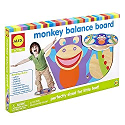 Best wooden toys for toddlers and preschoolers featured by top Seattle mommy blogger, Marcie in Mommyland: image of a monkey balance board