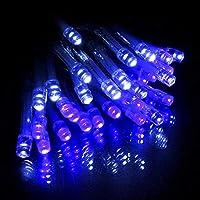 イルミネーション 室内用 ストレート 電池式 LED 30球 3m 全10色 クリスマス ライト ツリー ハロウィン 飾り付け イルミネーションライト おしゃれ かわいい (ブルー&ホワイト)