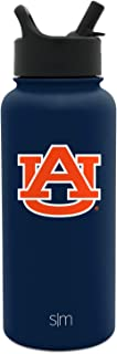 Simple Modern Auburn Tigers 32oz Summit Water Bottle with Straw Lid - Mens Womens Gift University NCAA College Vacuum Insulated Stainless Steel Travel Flask