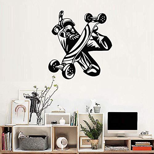 Geiqianjiumai Nieuwe creatieve skateboard vinyl muur stickers muurschildering jongen tiener slaapkamer kunst decoratie tools rit huisdecoratie muurstickers