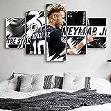 Angle&H Kreativ HD Neymar Plakate 5 Stücke Fussballspieler