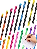 40 Pieces Color Changing Mood Pencil with Eraser Wooden Pencils Heat Activated Color Changing Pencils Thermochromic Assorted Colors with Black Change Color