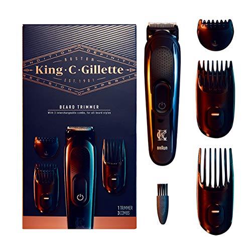 King C. Gillette Cordless Men's Beard Trimmer Kit with 3...