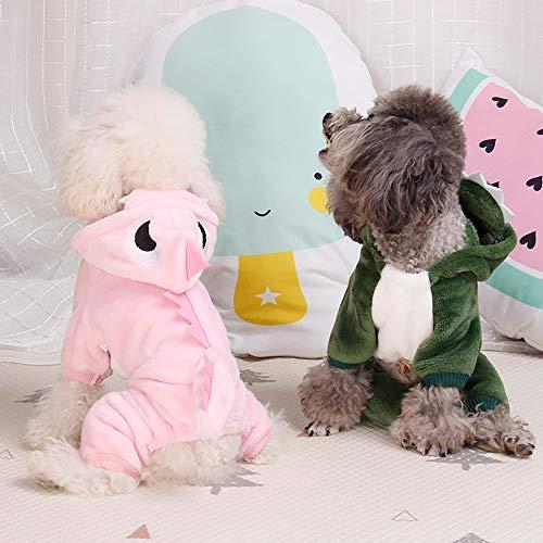 FTXJ Cute Dinosaur Transfiguration Coat Dress for Small Dog Girls Boys Winter Warm Sweater Coat Puppy Costume for Chihuahua/Yorkie / Keji/Bago ...