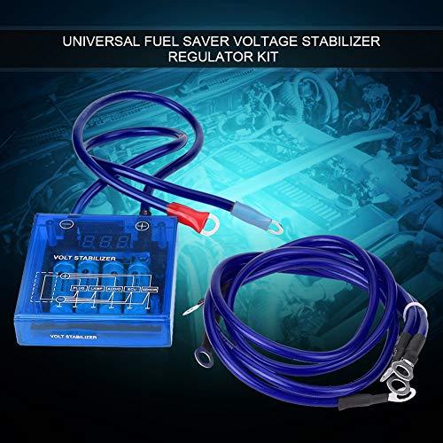 Volt-regelaar-universele brandstof-redder-spanningsconstanthouder regulator kit W / 3 aardingskabels blauw
