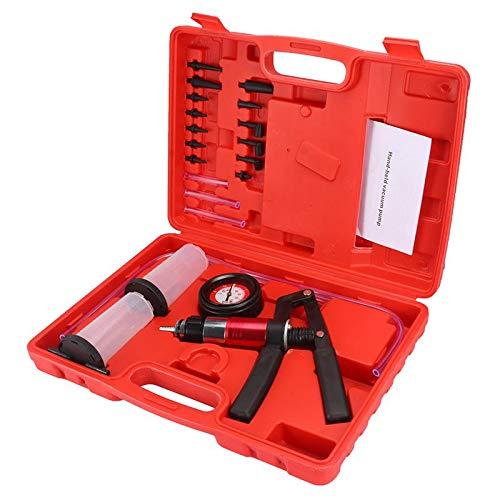 QWERTOUY 2 In 1 Hand Held DIY Remvloeistof Drukpomp Vacuüm Pomp Druk Tester Tester Kit Hand Held Vacuüm Pomp Rembloeder Set