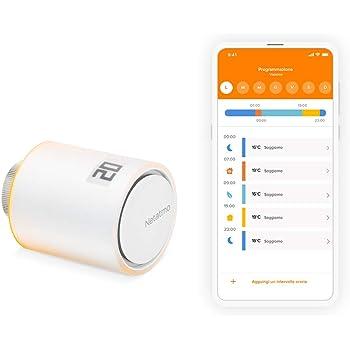 Netatmo Valvole Termostatiche Wifi Intelligente, Modulo supplementare per il Termostato Intelligente e per il Kit di base per riscaldamento centralizzato, NAV -IT