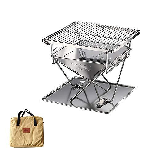 51L0N1Rin2L. SL500  - Wzz Tragbare Edelstahl BBQ Grill Klapp Grill Im Freien Grill Camping Picknick Grill Werkzeug Grill Zubehör