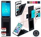 Hülle für Ulefone Paris X Tasche Cover Hülle Bumper | Schwarz Leder | Testsieger