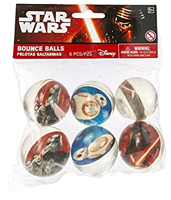 Amscan Star Wars Episode Vll Bounce Ball Favors, Multicolor