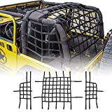 RT-TCZ Mesh Roof Top Net Restraint Protective Cargo Net Trunk Net for Jeep Wrangler 1997-2006 TJ 2 Door 3 pcs Black