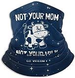 huatongxin Tu mamá ¡Tu leche se vuelve vegana! Pasamontañas Bufanda Transpirable Microfibra Cuello Calentador para Unisex