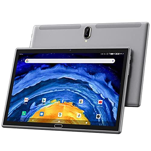 ZONKO Tablet 10 Pollici Android 10.0 4G LTE Doppio SIM Tablet PC, 4GB RAM 64GB ROM, 128GB Espandibili, Octa-Core, Fotocamera 13MP, 1080P FHD IPS, SD, 6000mAh, Type-C, Bluetooth, WiFi, GPS, OTG-Grigio