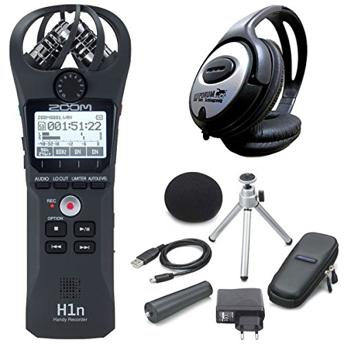 Zoom h1 N Handy Recorder + aph1 N di set cuffie keepdrum
