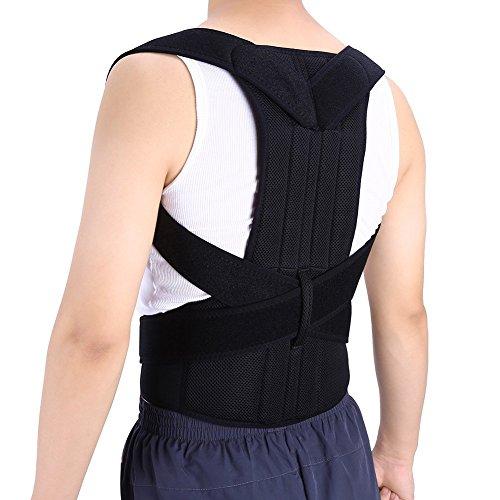 ZJchao Soporte Corrector de Espalda para Protector la Espalda Recta Refuerzos en la Espalda y Reducir el Dolor Lumbar (XL)