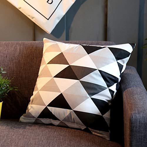 GRFD Fundas de cojín de impresión digital para sofá corto de felpa, decoración del hogar, decoración de dormitorio, sala de estar, 45 x 45 cm (incluido el núcleo interior)