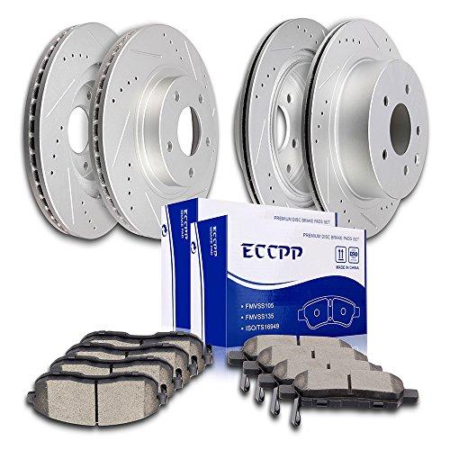 Brake Rotors Brakes Pads Kits,ECCPP 4pcs Front Rear Discs Brake Rotors and 8pcs Ceramic Disc Brake Pads Set for 2003 2004 2005 Nissan 350Z/Infiniti G35
