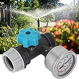 Kuuleyn Válvula de presión de Agua, válvula reguladora de presión de Agua Ajustable G3/4in con manómetro, Controlador de riego de jardín de Invernadero