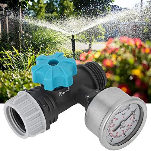 Kuuleyn Valvola di Pressione dell'Acqua, valvola di Regolazione della Pressione dell'Acqua Regolabile G3/4in con manometro Regolatore di irrigazione da Giardino a Effetto Serra