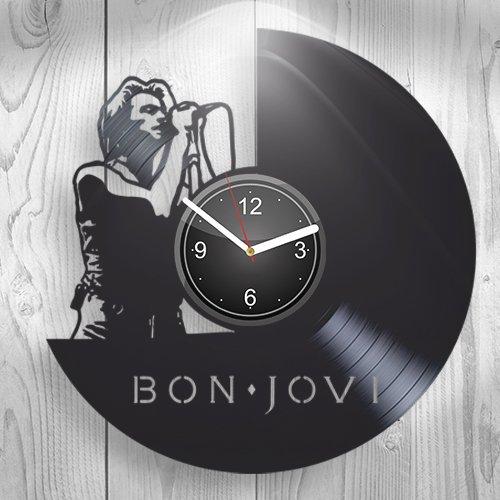 Bon Jovi Fans Bed of Roses Rock Music Gift for Boyfriend Girlfriend Wall Art, New Handmade Vinyl Wall Clock Decor, Office Decoration for Living Room Inspirational, Best Present for Him, Room Decor