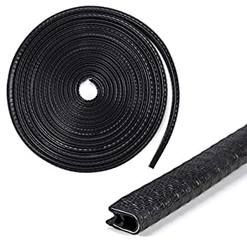 Sumnacon Car Door Edge Guards 32Ft - Flexible Rubber Edge Trim For Protecting Edges of Cars Boats Vehicles & Metal Glass Equipment Durable And Removable Protector Guard Seal Strips Black