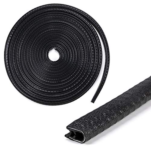 Sumnacon Car Door Edge Guards 32Ft - Flexible Rubber Edge Trim For Protecting Edges of Cars, Boats, Vehicles & Metal Glass Equipment, Durable And Removable Protector Guard Seal Strips Black