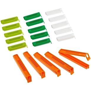 Customer reviews Kitchen Craft 20-Piece Bag Clips, Plastic, Multi-Colour, 9 x 12 x 16 cm:Isfreetorrent