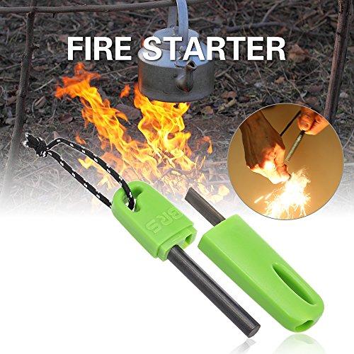 Festnight Feu démarreur Firesteel Flint Feu Steel Strike Fire Start Outil De Survie d'urgence Feu Starter